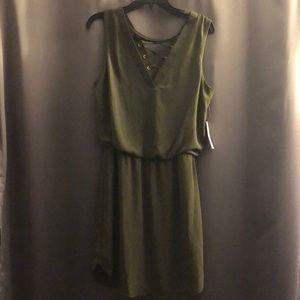 Bisou Bisou Olive Dress